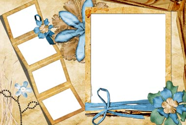 Frame for Photoshop : Flowers PNG   3.3 Mb